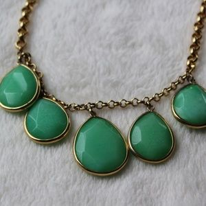 Fossil Green Statement Necklace